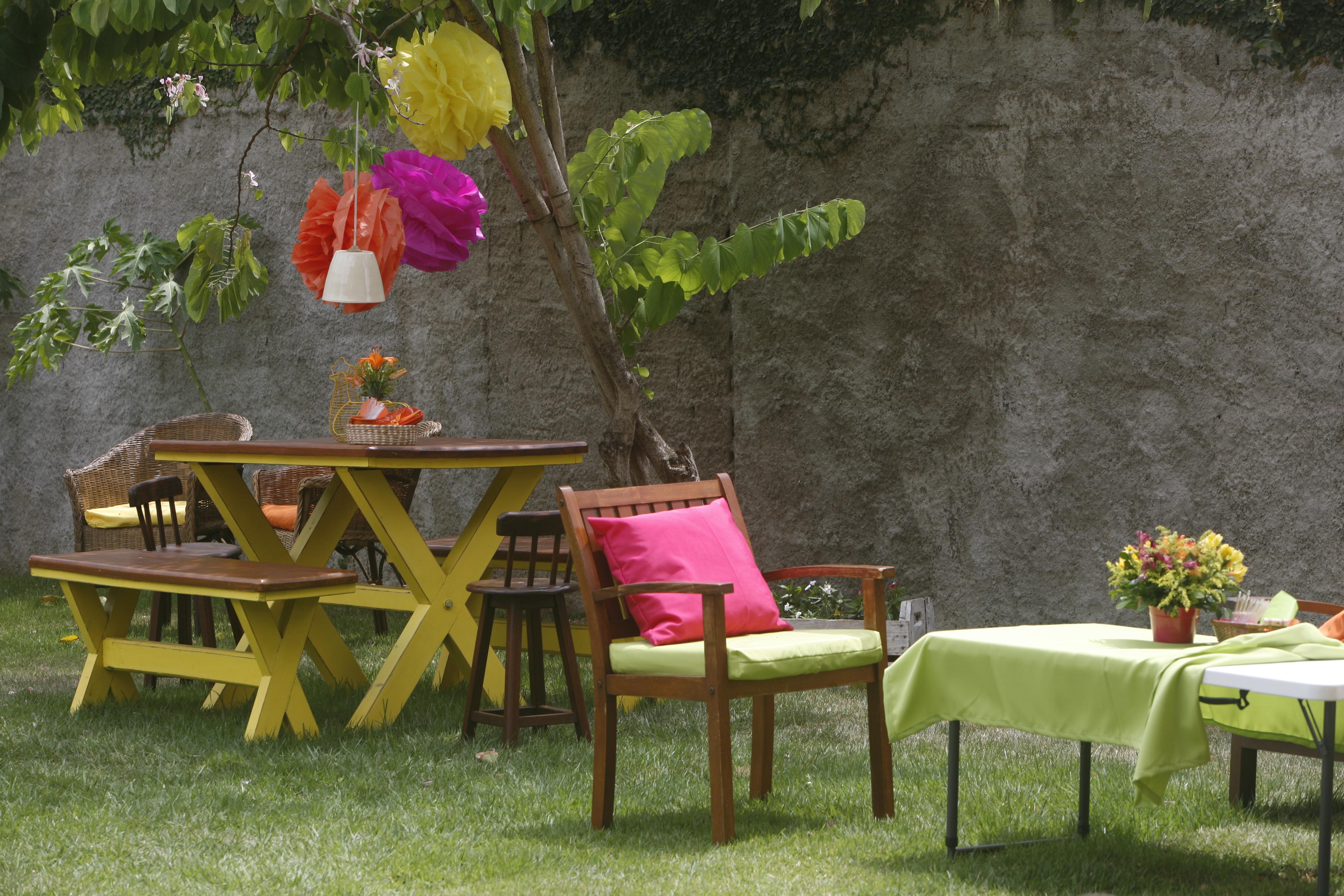 festa jardim da clarilu : festa jardim da clarilu:Decidi usar mesas grandes, para ficar mais informal, ter mais