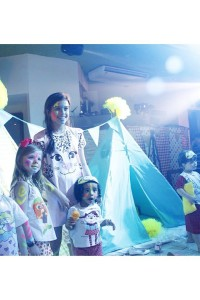 Festa linda! As crianas curtindo muito a Chiquitita soueuamanda ganharamhellip