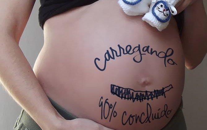 foto criativa gravidez